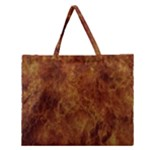 Abstract Flames Fire Hot Zipper Large Tote Bag