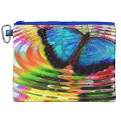 Blue Morphofalter Butterfly Insect Canvas Cosmetic Bag (xxl) by Celenk