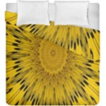 Pattern Petals Pipes Plants Duvet Cover Double Side (King Size)