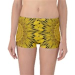 Pattern Petals Pipes Plants Reversible Boyleg Bikini Bottoms