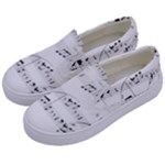 Abuse Background Monochrome My Bits Kids  Canvas Slip Ons