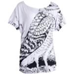 Animal Bird Forest Nature Owl Women s Oversized Tee