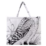 Animal Bird Forest Nature Owl Zipper Large Tote Bag
