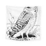 Animal Bird Forest Nature Owl Square Tapestry (Small)