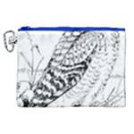 Animal Bird Forest Nature Owl Canvas Cosmetic Bag (XL)