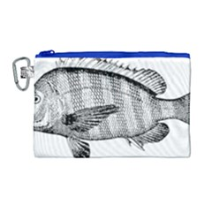 Animal Fish Ocean Sea Canvas Cosmetic Bag (large) by Celenk