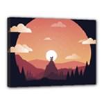 Design Art Hill Hut Landscape Canvas 16  x 12