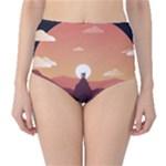 Design Art Hill Hut Landscape High-Waist Bikini Bottoms