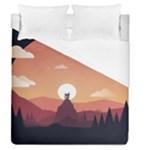 Design Art Hill Hut Landscape Duvet Cover (Queen Size)