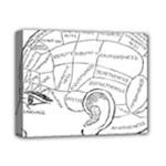 Brain Chart Diagram Face Fringe Deluxe Canvas 14  x 11