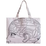 Brain Chart Diagram Face Fringe Zipper Mini Tote Bag