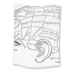 Brain Chart Diagram Face Fringe Medium Tapestry