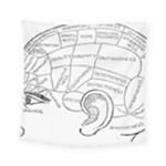 Brain Chart Diagram Face Fringe Square Tapestry (Small)