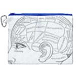 Brain Chart Diagram Face Fringe Canvas Cosmetic Bag (XXL)