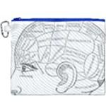 Brain Chart Diagram Face Fringe Canvas Cosmetic Bag (XXXL)