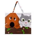 Baby Decoration Cat Dog Stuff Zipper Large Tote Bag
