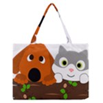 Baby Decoration Cat Dog Stuff Zipper Medium Tote Bag