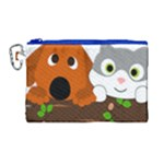 Baby Decoration Cat Dog Stuff Canvas Cosmetic Bag (Large)
