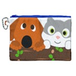Baby Decoration Cat Dog Stuff Canvas Cosmetic Bag (XL)