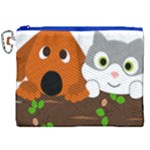 Baby Decoration Cat Dog Stuff Canvas Cosmetic Bag (XXL)