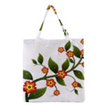 Flower Branch Nature Leaves Plant Grocery Tote Bag