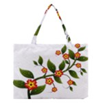 Flower Branch Nature Leaves Plant Medium Tote Bag