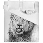 Lion Wildlife Art And Illustration Pencil Duvet Cover Double Side (California King Size)
