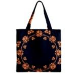 Floral Vintage Royal Frame Pattern Zipper Grocery Tote Bag