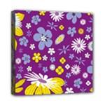 Floral Flowers Mini Canvas 8  x 8