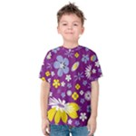 Floral Flowers Kids  Cotton Tee