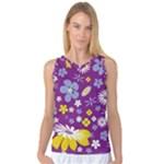 Floral Flowers Women s Basketball Tank Top