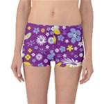 Floral Flowers Boyleg Bikini Bottoms
