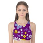 Floral Flowers Tank Bikini Top