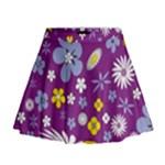 Floral Flowers Mini Flare Skirt