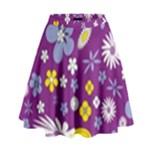 Floral Flowers High Waist Skirt