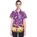 Floral Flowers Women s Short Sleeve Shirt