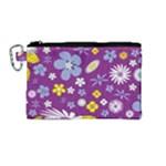 Floral Flowers Canvas Cosmetic Bag (Medium)