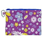 Floral Flowers Canvas Cosmetic Bag (XL)