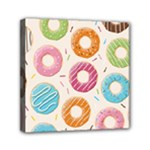 Colored Doughnuts Pattern Canvas Travel Bag