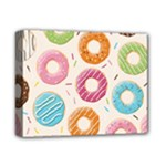 Colored Doughnuts Pattern Deluxe Canvas 14  x 11