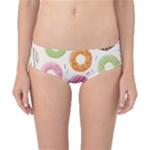 Colored Doughnuts Pattern Classic Bikini Bottoms
