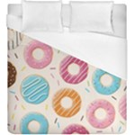 Colored Doughnuts Pattern Duvet Cover (King Size)
