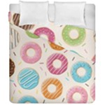Colored Doughnuts Pattern Duvet Cover Double Side (California King Size)