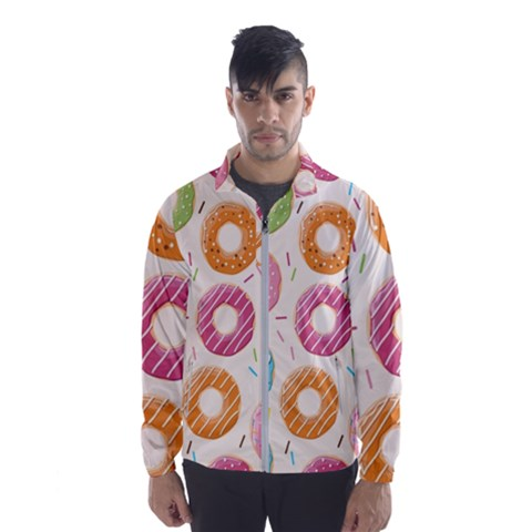 Colored Doughnuts Pattern Wind Breaker (men)
