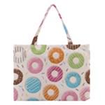 Colored Doughnuts Pattern Medium Tote Bag