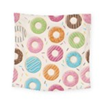 Colored Doughnuts Pattern Square Tapestry (Small)