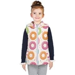 Colored Doughnuts Pattern Kid s Puffer Vest by allthingseveryday