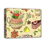Colored Afternoon Tea Pattern Deluxe Canvas 14  x 11
