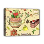Colored Afternoon Tea Pattern Deluxe Canvas 16  x 12