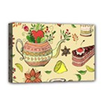 Colored Afternoon Tea Pattern Deluxe Canvas 18  x 12
